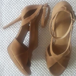 Michael Kors Suede Becky Ankle Sandal